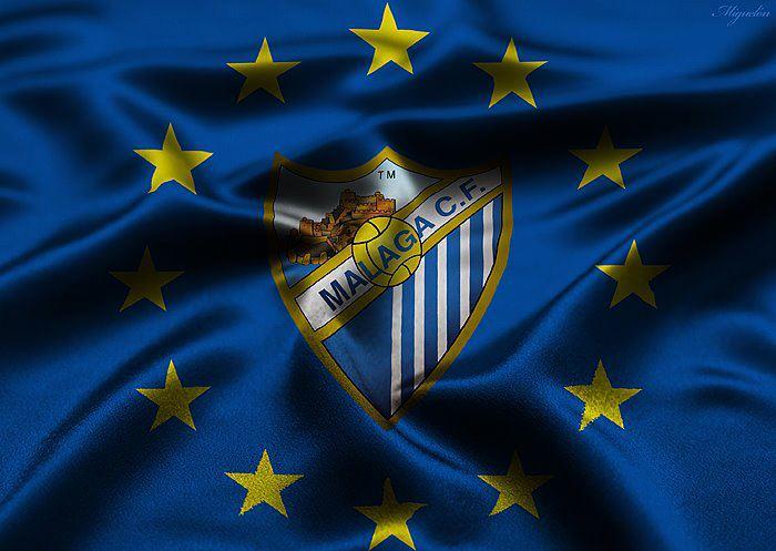 El Malaga a Champions!!! Bandera